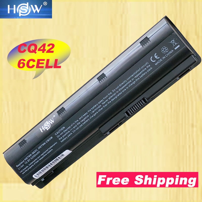 HSW 5200MAH Laptop Battery notebook FOR HP Compaq MU06 MU09 CQ42 Battery For CQ32 G62 image