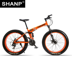 Lauxjack mining double-layer bicycle steel folding frame 24 speeds shimano mechanical disc wheel disc brakes 26