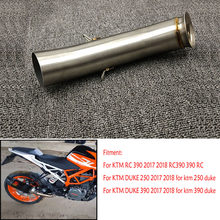 MTImport For KTM DUKE 390 250 125 Duke RC 390 RC390 2017 2018 Motorcycle Moto Exhaust Muffler Mid Middle Pipe Slip-on(China)