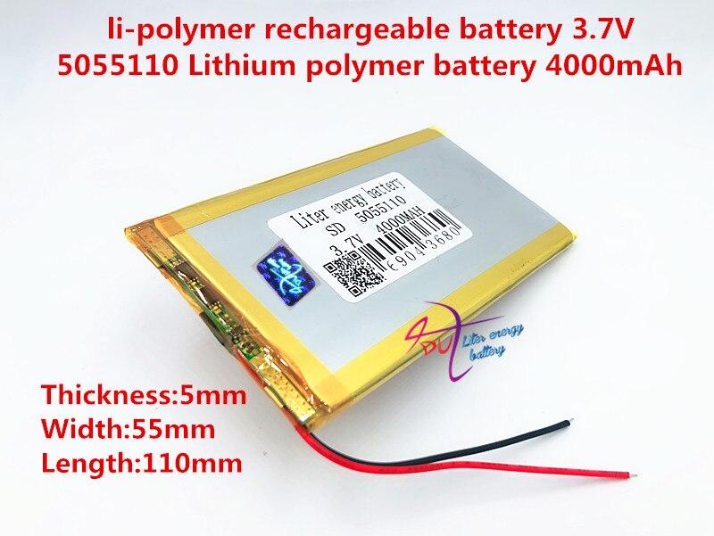 3.7 V bateria de polímero de lítio 4000 mah grande-capacidade PDA tablet PC MID 5055110