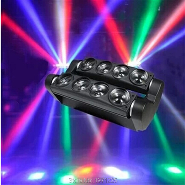 New hot-selling aranha bar rgbw 8x10 w led feixe moving head led aranha aranha rgbw led moving head feixe de luz 100 w luz do scanner