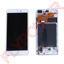 For XiaoMi NOTE HD 5.7 inch LCD Display +Digitizer touch Screen with Frame Assembly White by Free Shipping