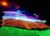 Mejor Guirnaldas navideñas LED de Año Nuevo 4x6m 750 SMDs guirnalda LED impermeable iluminación interior Paisaje de