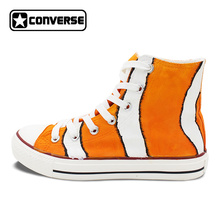 New Shoes Clownfish Hand Painted Shoes Converse Chuck Taylor High Top Canvas Sneakers Christmas Gifts for