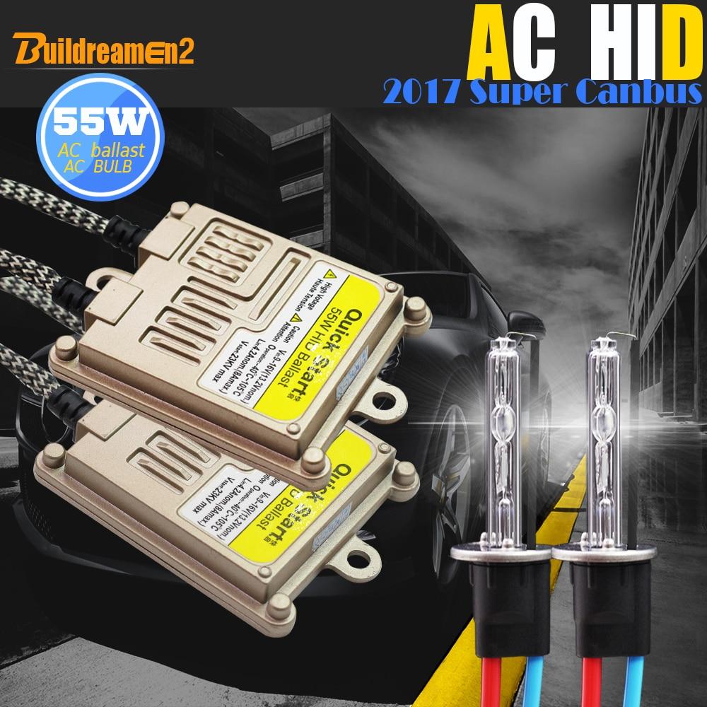 Buildreamen2 9005 9006 880 881 H1 H3 H7 H8 H9 H11 55W Canbus HID Xenon Kit Decoder AC Ballast Lamp 8000K Car Headlight Fog Light