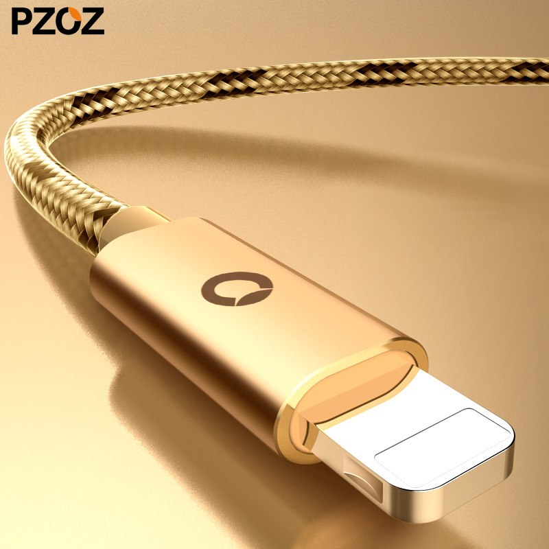 Pzoz charging for iphone cable quick fast charger usb cabel original short cord for apple lighting iphone6 6 s cable wire 1m x 8