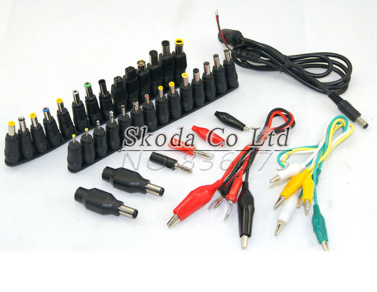 Free shipping 39 in1 AC DC Jack, Charger Power Supply Adapter,Connector Plug use for Laptop /Notebook Power Adapter with Cable 37pcs universal laptop ac dc jack power supply adapter connector plug for hp ibm dell apple lenovo acer toshiba notebook cable