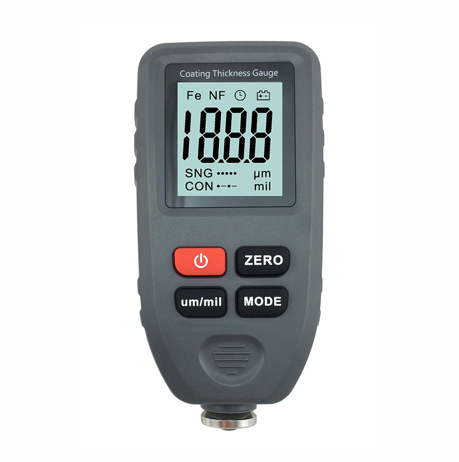 Magnetic Permeability Meter : Ct in lcd digital coating thickness gauge meter
