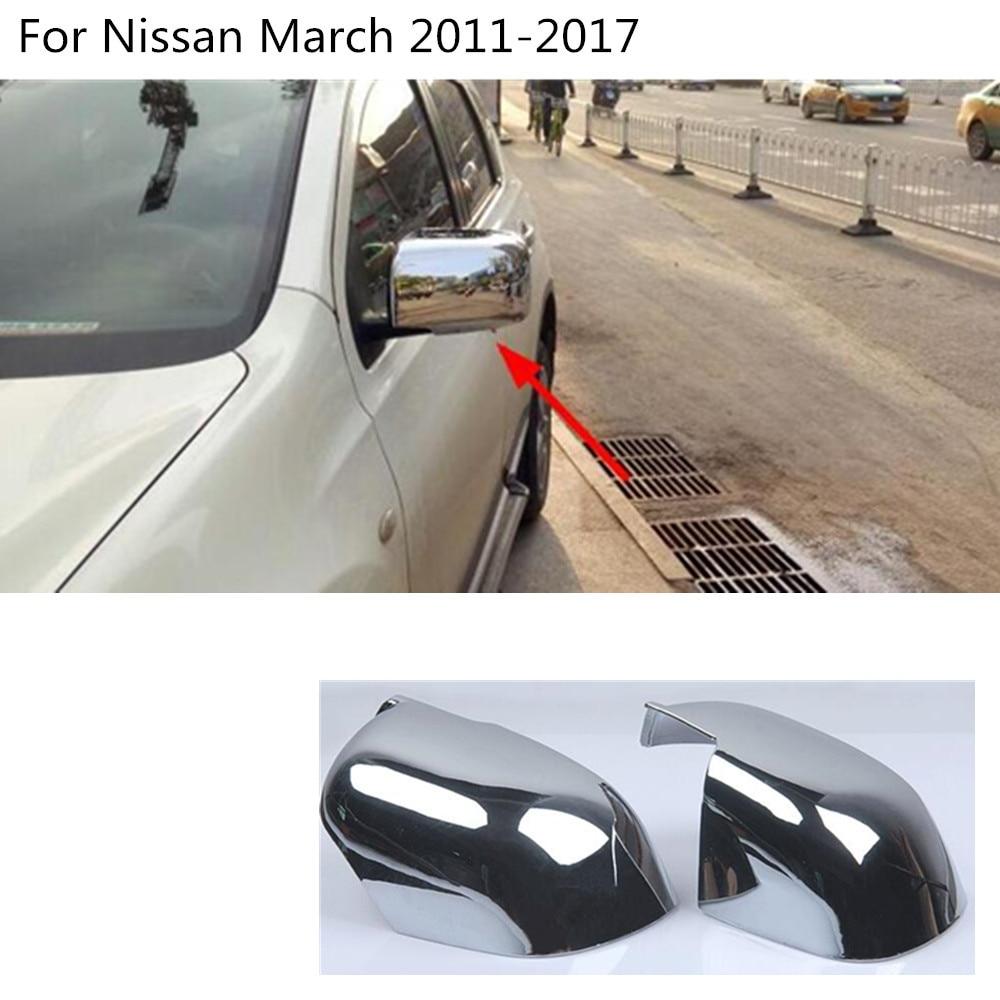 For Nissan Qashqai 2014-2016 Door Rearview Mirror Cover Trims Sun Visor 2Pcs