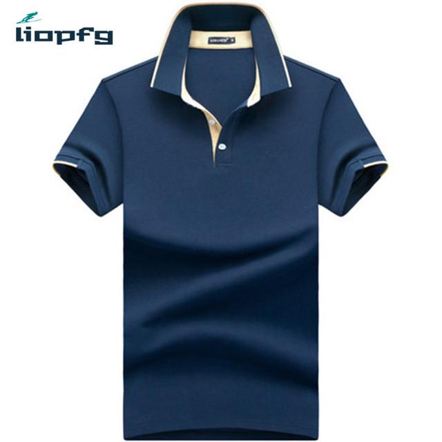 2017 moda de nueva marca hombres sólido camisa de polo de manga corta slim fit hombres de la camisa de polo de algodón camisas camisas casuales más el tamaño 4xl wm07
