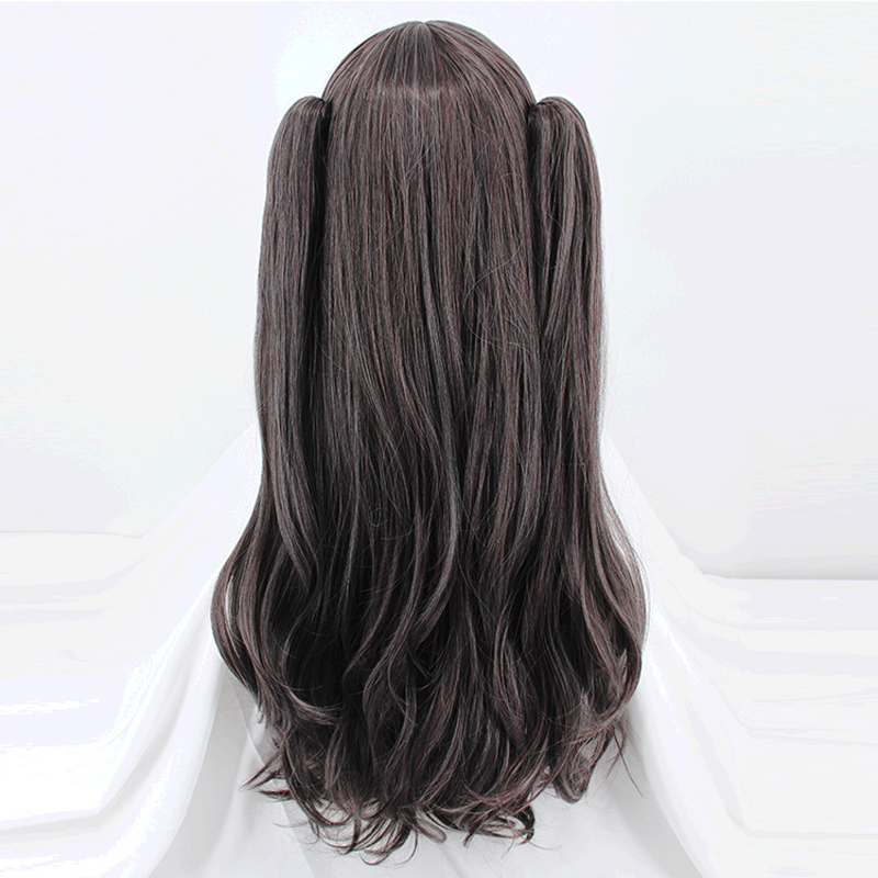 Image 4 - Fate/Stay Night Rin Tohsaka Two Ponytails Wig Cosplay Costume Fate Grand Order Women Long Synthetic Hair Halloween Party Wigs