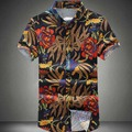2016 New Men Floral Shirts M-6XL Fashion Casual Slim Fit Camisas Business Dress Floral Print Homme Shirts