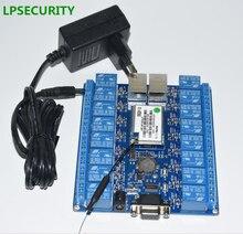Tablero de módulo de relé wifi con puerto RS232 RJ45, 16 canales o 2 canales, relés, antena wifi p2p