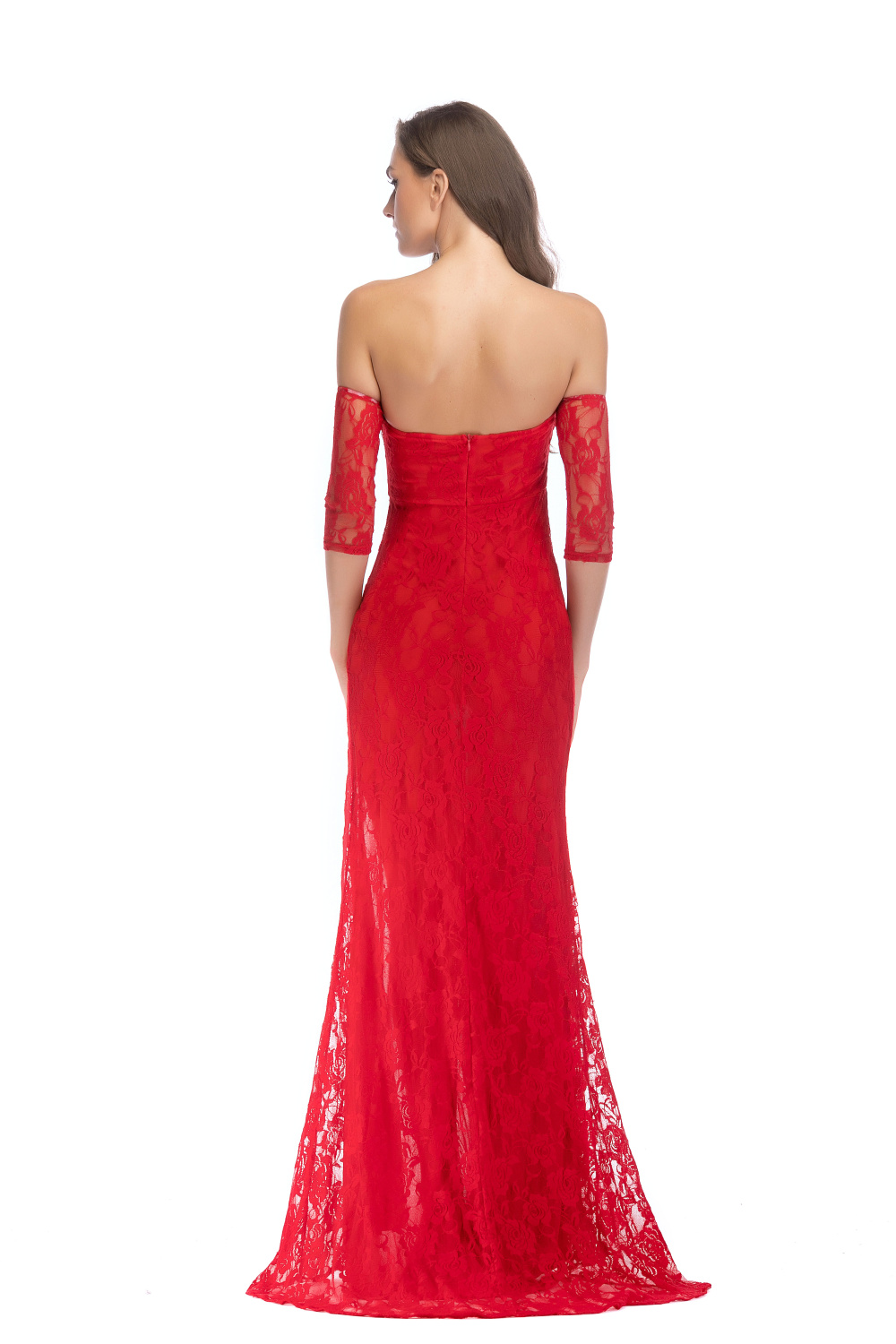 Sexy Red black Lace Off Shoulder summer dress women Strapless Night club queen party dresses elegant vestido bodycon maxi dress in Dresses from Women 39 s Clothing