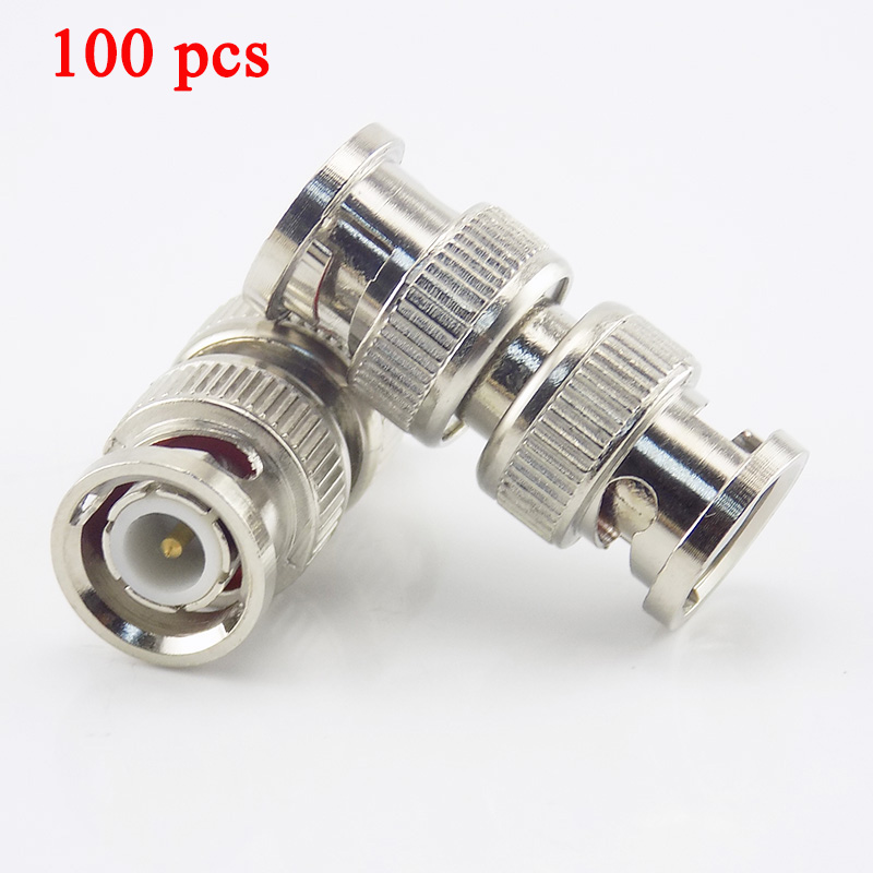 Gakaki 100Pcs/Lot Splitter Plug Adapter Bnc Connector Male To Bnc Male Coupler For Rg59 Cctv Cable Adapter Cctv Accessories
