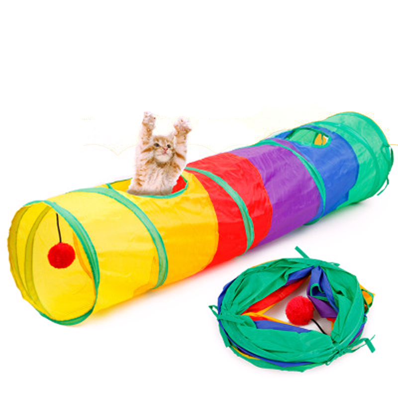 Pet Cat Tunnel Animal Play Tunnel Cave Cat Kitten Play Toy Exercise Tunnel Cat Toys Cat Gift