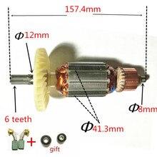 Rotor de 6 dientes para AC220 240V, armadura del Motor C213944E 360875E para HITACHI DH38MS DH38SS DH38YE2, martillo perforador