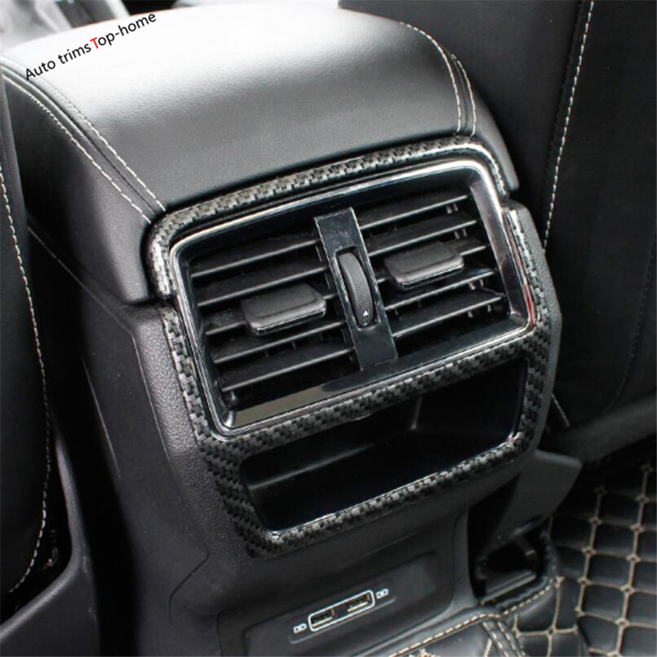 Yimaautotrims Armrest Box / Rear Air Conditioning AC Vent Cover Trim Fit For Skoda Kodiaq 2017 2018 2019 ABS Interior Mouldings