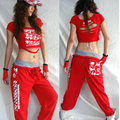 2016 New Fashion Female Sexy Hip Hop Dance top stage performance costumes hiphop singer ds wear T-shirt for women