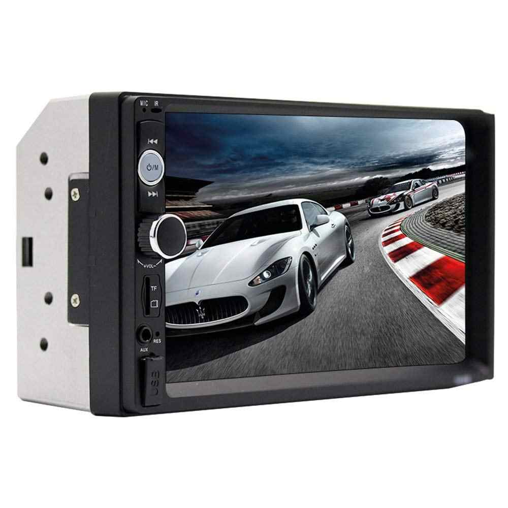 "7 ""Layar Sentuh Mobil Multimedia Player 2 DIN Mobil Radio GPS Navigasi Autoradio Bluetooth USB AUX Auto Stereo Mobil DVD MP5 Pemain"