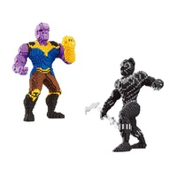 Small Blocks Big size Super Hero Model Black Panther Building Toy Cartoon Auction Figure Thanos Bricks Brinquedos for Boy Gifts