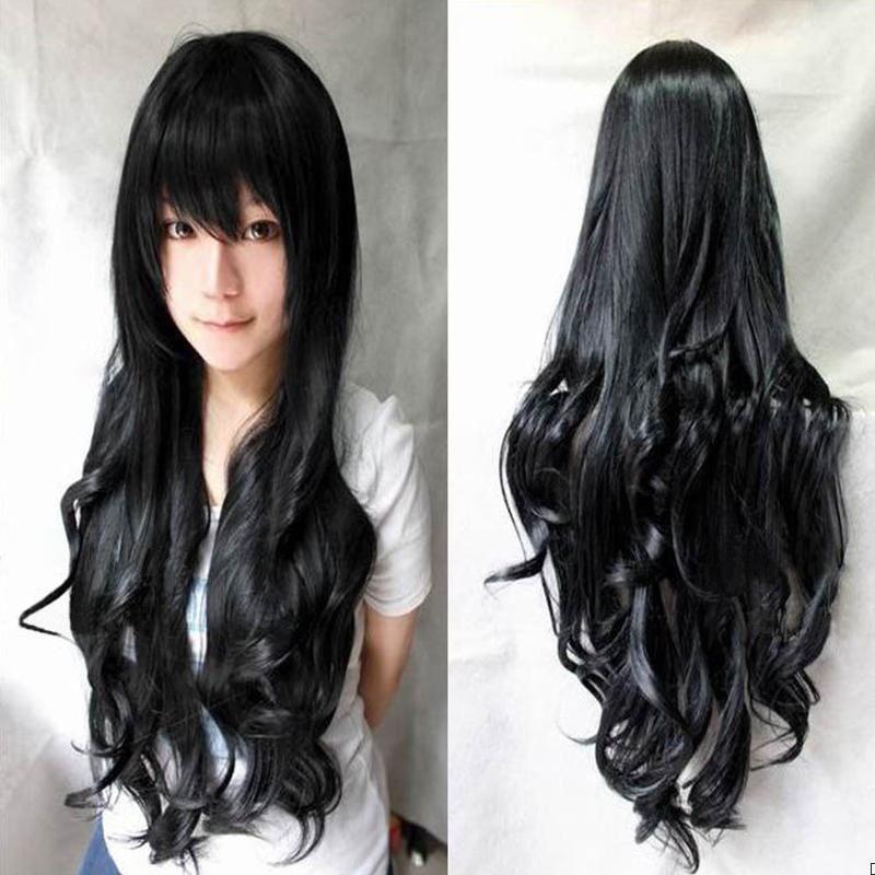 Fotos de cabello largo y negro