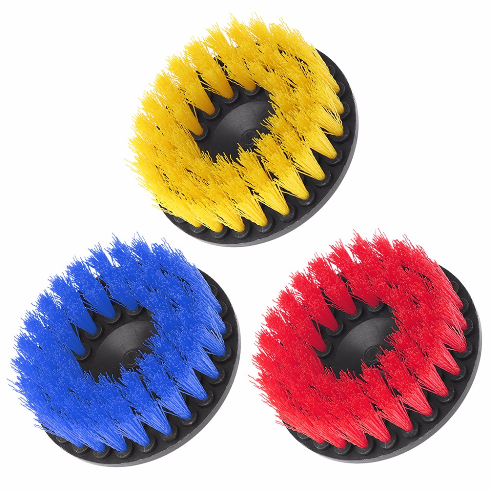 120mm Multi Colors Drill Brush Heavy Duty With Stiff Bristles Cleaning For Carpet Car Mats