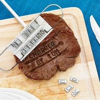 BBQ Meat Iron With Personality Steak Meat Barbecue BBQ Tool Changeable 55 Letters Hot Selling JS0572