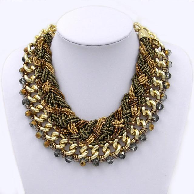 Роскошь ювелирные изделия колье многоцветный кристалл бусины себе ожерелье для женщины ювелирные изделия 3 цвета
