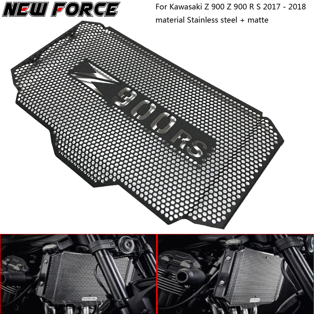 Motorcycle Black Radiator Grille Guard Cover Protector Cover For <font><b>Kawasaki</b></font> <font><b>Z900RS</b></font> Z900 Z 900 RS 2017 2018 Motorcycle <font><b>Accessories</b></font> image