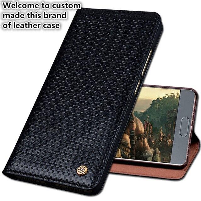 JC06 Genuine Leather Flip Case Capa Para Huawei Honor V9 (5.7 ') Caixa do telefone Para Huawei Honor Tampa Do Telefone V9 Frete Grátis