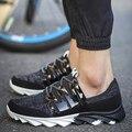 Hombres de La Manera Causal Zapatos de Deporte Negro Y el Estilo Clásico Zapatos de Algodón de Los Hombres Entrenadores Superestrella Marca Aumento de la Altura Zapatos Para Caminar