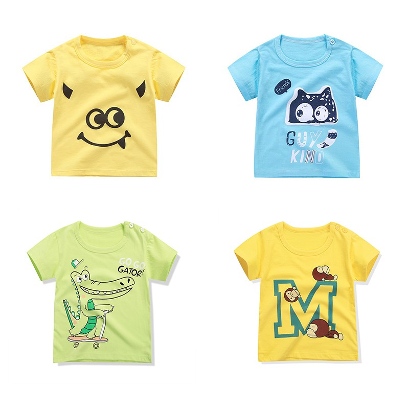 Summer Hot Sale Baby Boy And Girl T-shirt Infant Kids Short-sleeved Cartoon T-shirt Newborn Childrens Newly Clothing