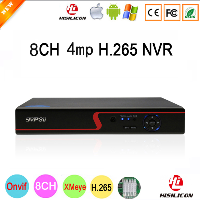 Red panel Hi3536D Xmeye 8CH*4MP/4CH*5MP HD Digital 8CH 8 Channel 4MP H.265 Surveillance IP ONvif CCTV Camera NVR Free Shipping