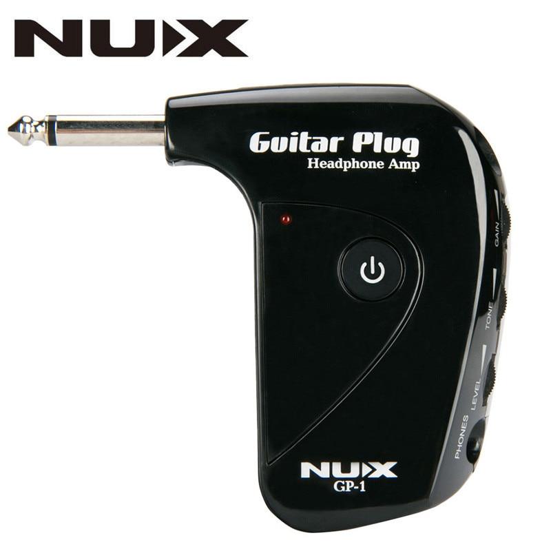 nux gp 1 portable electric nux guitar amplifier amp mini headphone built in distortion effect. Black Bedroom Furniture Sets. Home Design Ideas