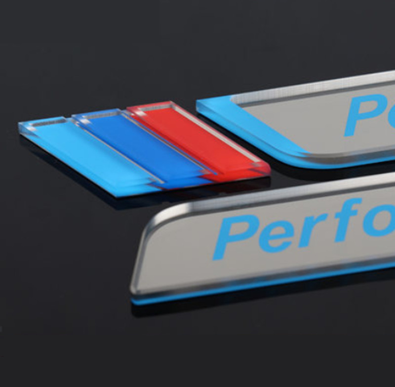 Image 4 - New 2pec/set M Power Performance Fender Car Styling Decal Emblem Badge For BMW M 1 3 4 5 6 7 E Z X Car Stickers Accessories-in Car Stickers from Automobiles & Motorcycles