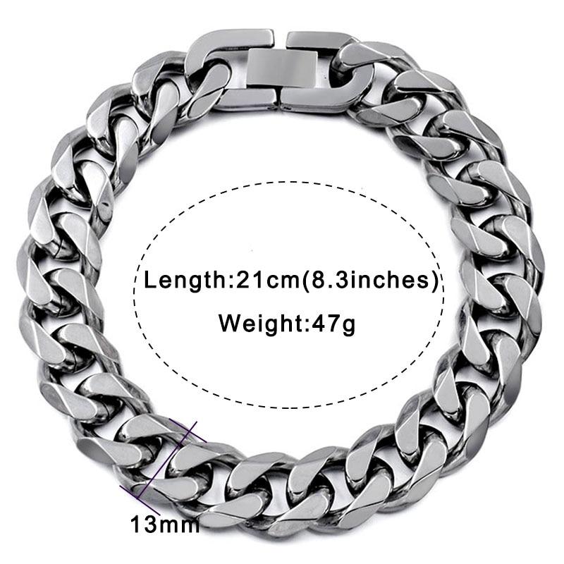Moorvan Jewelry Men Bracelet Cuban links & chains Stainless Steel Bracelet for Bangle Male Accessory Wholesale B284 16