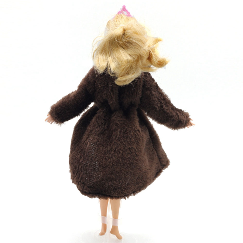Doll Accessories Winter Wear Warm Fur Coat Dress Clothes For Dolls Fur Doll Clothing For Doll Kids Toy #6