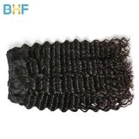 BHF Indian Deep Wave 100% Human Hair Weave Bundles Natural Color Raw Indian Virgin Hair Deep Curly Weft Hair Extensions