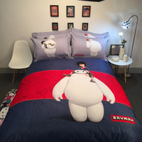 Big Hero Baymax bedding set twin queen size cartoon quilt/duvet cover child/adult sheet set 3d bed linens new bedspread TJ 70