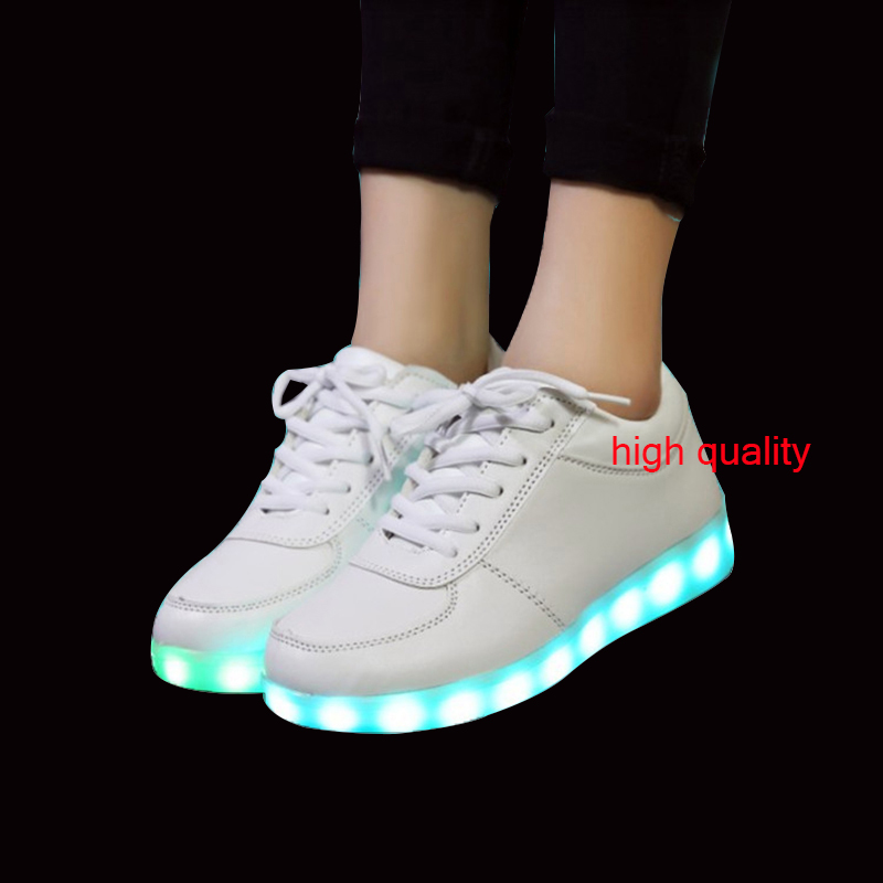 ФОТО 7 kinds Colorful Casual shoes for men's unisex Adults adolescents luminous shoes couple models LED USB charging light up shoes