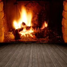 Laeacco Fireplace Wooden Floor Winter New Year Baby Photography Backgrounds Customized Photographic Backdrops For Photo Studio