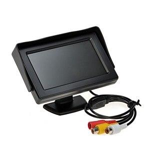 Image 2 - 7 luces infrarrojas sistema de pantalla de marcha atrás automático 4,3 pulgadas Monitor LCD Auto Pantalla de coche IP67 cámara de aparcamiento con Monitor