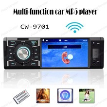 Car stereo radio Bluetooth 4 pulgadas Del Coche Mp5 Jugadores Remoto Soporte de Control Micphone Tarjeta TF Jugador Con el retrovisor del coche cámara