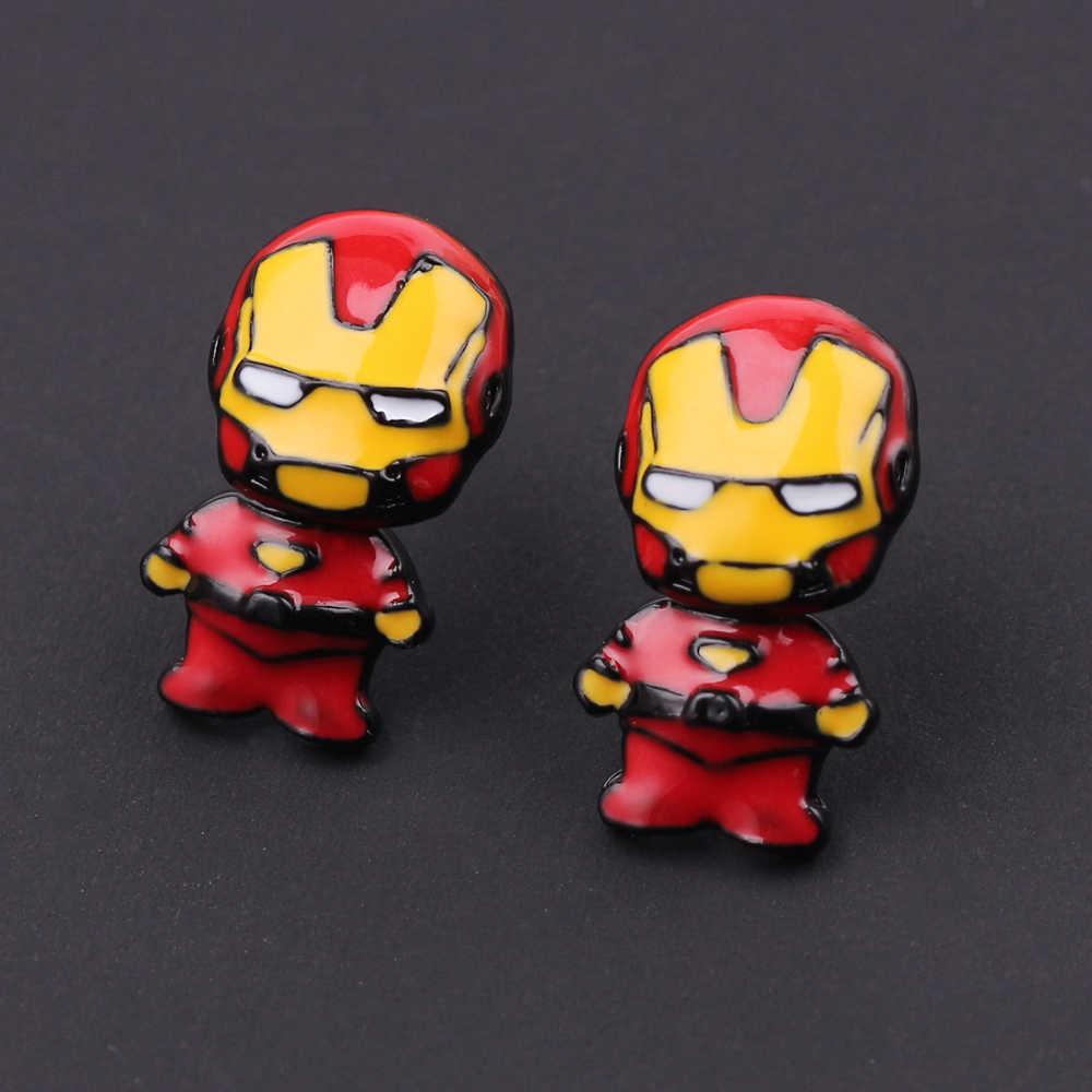 נוקמי איש ברזל מסכת עגילים לאישה סופר hero Ma של מתנת צעצועי סופרמן איור קריקטורה עגיל תכשיטי אופי
