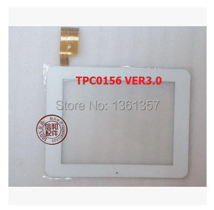 New 8 inch sanei N83 ampe A85 capacitive touch screen  TPC0156 VER3.0 white free shipping