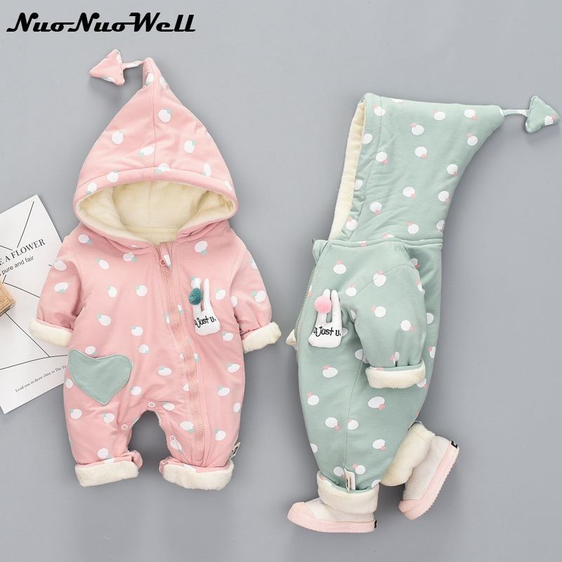 Cute Winter Warm Baby Girl Boy Snowsuit Thick Cotton Baby Rompers Hoodies Newborn Overalls Clothes Kids Children Jumpsuit 2017 fashion boy winter down jackets children coats warm baby cotton parkas kids outerwears for