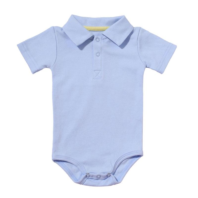 Zomer Baby Boy Meisje Rompertjes Turn-down Kraag Pasgeboren Katoen Kleding Jumpsuit Voor 0-2Y Peuters Bebe Outfits 5