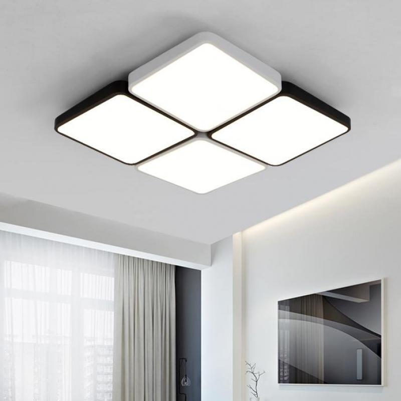 Office 4 12 pcs black & white Led ceiling lights Living Room Hall big Engineering lighting Led Factory commercial lighting Avize