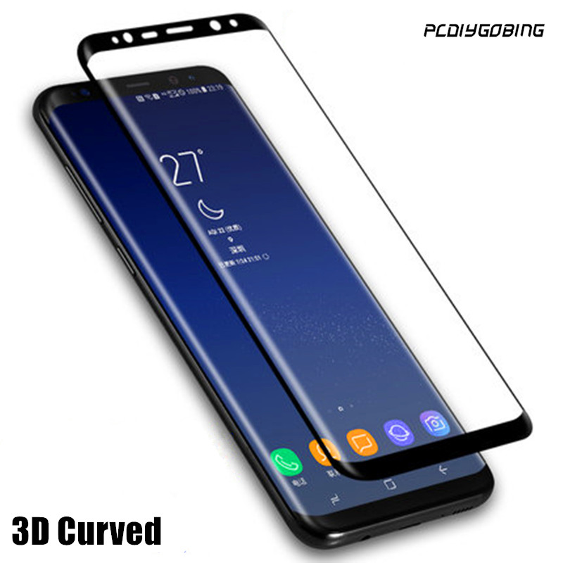 PDGB 3D Curved Front Tempered Glass Film Full Cover Body Phone Screen Protector For Samsung Galaxy S8 SM-G9500 G950A G950F G950